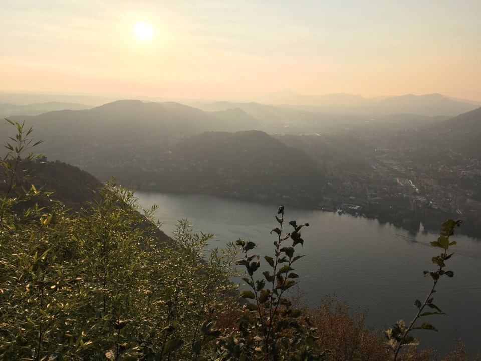View of Como Lake from the lighthouse in Brunate